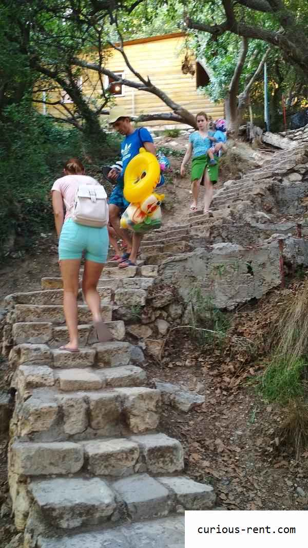 Лестница ведущая на пляж