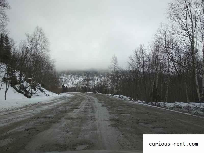 Проселочная дорога в турбазу