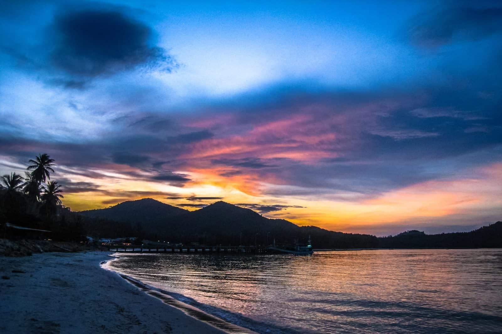 Закат на острове Phangan